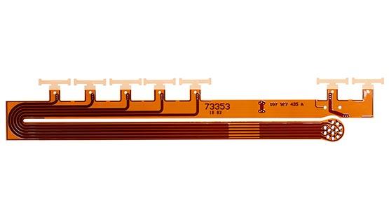 """Vue d'un circuit imprimé flexible dit """"Haute Température"""""""