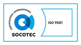 Logo Socotec, certification international ISO 9001
