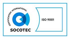 Logo Socotec, certification international ISO 9001