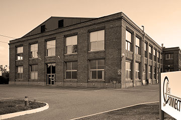 Flex Connect building in sepia tones