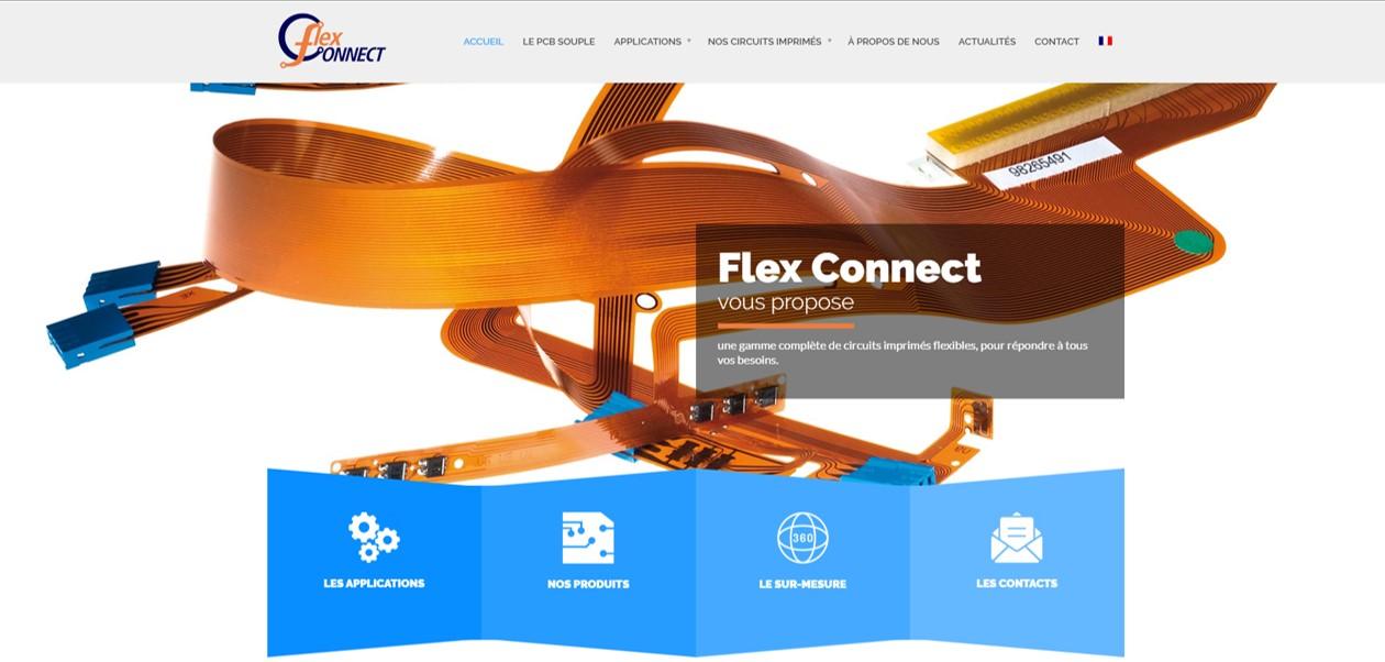 Page d'accueil site web Flex Connect
